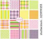 a hodgepodge of plaids  stripes ... | Shutterstock .eps vector #325999355