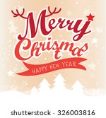 happy new year greeting card.... | Shutterstock .eps vector #326003816