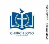 Church Logo. Bible  Cross  Dove ...