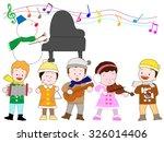 winter concert of children | Shutterstock .eps vector #326014406