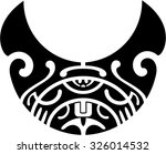 maori pattern is isolated on... | Shutterstock .eps vector #326014532