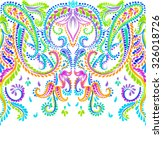very detailed happy paisley... | Shutterstock . vector #326018726