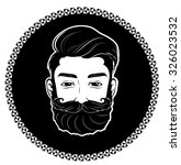 bearded man | Shutterstock .eps vector #326023532