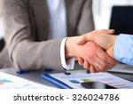 business handshake. two
