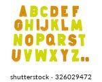 english alphabet on an white... | Shutterstock . vector #326029472