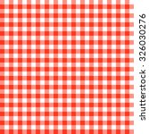 vintage checkered table cloth... | Shutterstock .eps vector #326030276