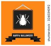 spider icon. black happy... | Shutterstock .eps vector #326034092