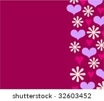 background with flowers and... | Shutterstock .eps vector #32603452