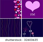 collection funny love... | Shutterstock .eps vector #32603635