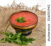 russian sauce adjika | Shutterstock . vector #326051942