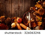 thanksgiving dinner. autumn... | Shutterstock . vector #326063246