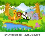 cute safari animal in the jungle | Shutterstock .eps vector #326065295