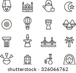 turkey outlined icons | Shutterstock .eps vector #326066762