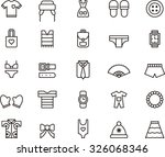 clothes   accessories icons | Shutterstock .eps vector #326068346