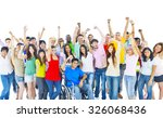large group of people community ... | Shutterstock . vector #326068436