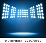 bright spotlights on dark blue... | Shutterstock .eps vector #326070992