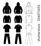 clothing silhouettes  hoodie  t ... | Shutterstock .eps vector #326071052