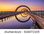 Falkirk Wheel At Sunset....