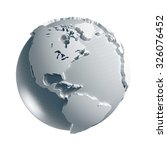 3d generated globe. america... | Shutterstock . vector #326076452