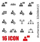 vector grey office people icon... | Shutterstock .eps vector #326086415