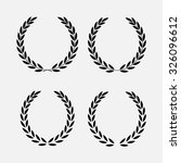 icon laurel wreath   vector... | Shutterstock .eps vector #326096612