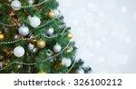 christmas balls on the...   Shutterstock . vector #326100212