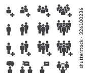 people icon set | Shutterstock .eps vector #326100236