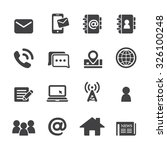 contact icon set | Shutterstock .eps vector #326100248