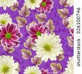floral seamless pattern autumn...   Shutterstock . vector #326100746