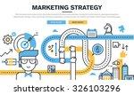 flat line design concept for... | Shutterstock .eps vector #326103296