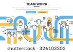 flat line design style modern... | Shutterstock .eps vector #326103302