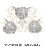 imitation flower embroidery... | Shutterstock .eps vector #326103662