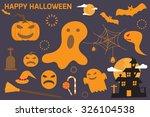 halloween elements. vector... | Shutterstock .eps vector #326104538