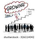 growing growth mission success... | Shutterstock . vector #326114042