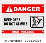 danger  high voltage  sign | Shutterstock .eps vector #326114285