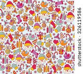 seamless pattern with christmas ... | Shutterstock .eps vector #326119586