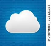 cloud icon with blue background ... | Shutterstock .eps vector #326121386
