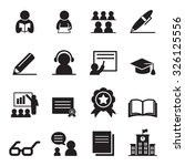 learning icon set | Shutterstock .eps vector #326125556