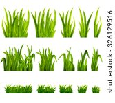 watercolor green grass isolated ... | Shutterstock . vector #326129516
