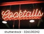 Cocktails Neon Sign Vintage....