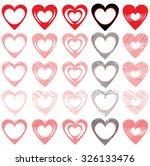 vector hearts set | Shutterstock .eps vector #326133476