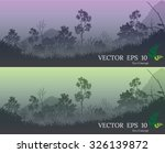 banners of forest  vector... | Shutterstock .eps vector #326139872