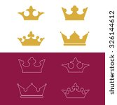 crown icons | Shutterstock .eps vector #326144612