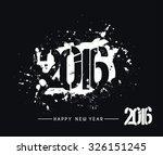 Happy New Year 2016 Text Design