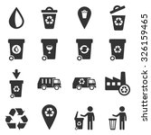 garbage simply icons | Shutterstock .eps vector #326159465