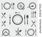 cutlery icons | Shutterstock .eps vector #326167322