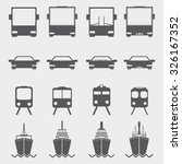 transportation icons | Shutterstock .eps vector #326167352