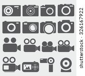 camera icons | Shutterstock .eps vector #326167922