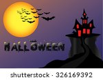 vector illustration halloween | Shutterstock .eps vector #326169392