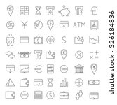 set of forty nine icons...   Shutterstock .eps vector #326184836